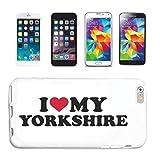 Helene - Funda para iPhone 7 + I Love My Yorkshire Terrier perros...
