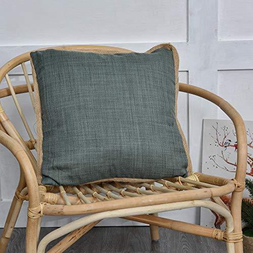 Cuscino copertura, Copertura del Fodere per ,Cuscini la Decorazione Domestica , Morbido Moderno Semplice ,dell'automobile del sofà SetFedera di corda a base di stoffa a colori 2pcs-verde_45 * 45 cm.