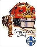 Herbé TM - Poster con treno Santa FE Rf80, 40 x 60 cm