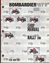 2005 BOMBARDIER ATV RALLY 200 SHOP SERVICE MANUAL P/N 219 100 195 (873)