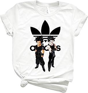 Goken and Nach Sayanadidas Adidbas Dragon Ball Bdz Anime Black 83 - Fashion Graphic T Shirts for Women -