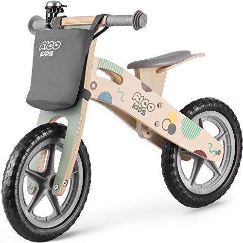 Holzlaufrad für Kinder Laufrad Holz Ricokids RC-610 Fahrrad Roller