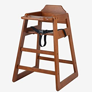 Solid Wood Baby High Chair Baby Dining Table Chair Seat Belt Baby Dining Chair