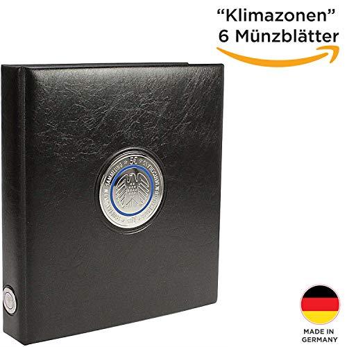 SAFE 7360 das 5 Euro Münzen Sammelalbum Klimazonen der Erde 2016-2021 - Premium Münzsammelalbum Coin Collection- Euro Sammelalbum - inkl. 6 Münzblätter- Made in Germany 7360