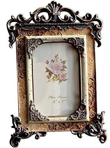 Giftgarden Marco de Fotos 13x18cm de Estilo Vintage Europeo,artículo Familiar Lujoso Ligero,decoración Barroco,Artesanía clásico.