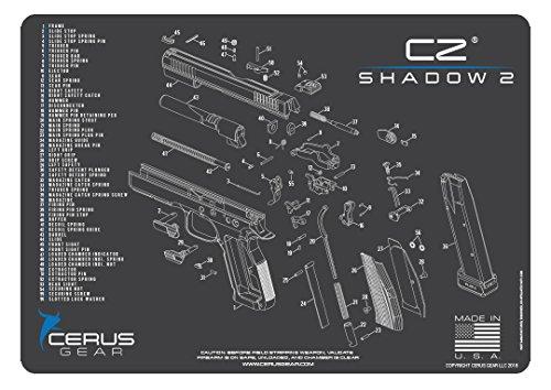 Cerus Gear Shadow 2 Handfeuerwaffen-Promat, mit Cubic Zirkonia, Anthrazit