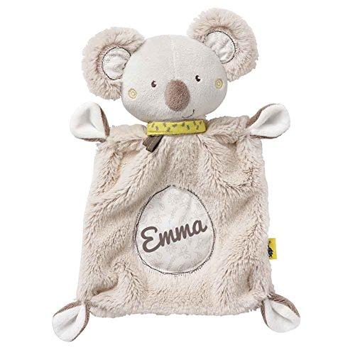 Fehn 064056 Schmusetuch Australia Koala mit Namen Beschriftung