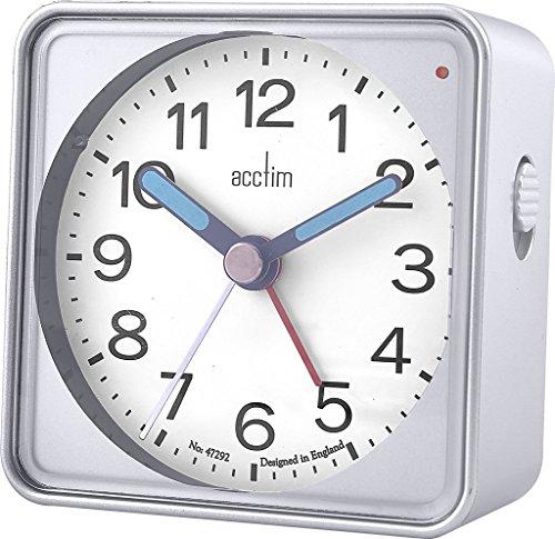 Acctim 15457 Adina zilveren wekker met licht