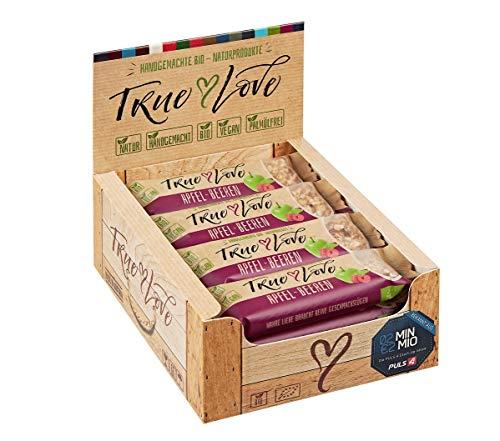 TRUE LOVE, Bio-Apfel-Beeren-Naturriegel, Müsliriegel, 12 Stück Packung, 12 x 30 g Müsliriegel