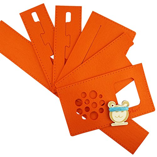 Filztaschen-Nähset für hörbert, den MP3-Player für Kinder aus Holz. (orange)