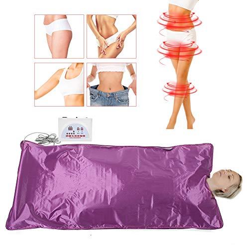 Thermo Far Infrarot Sauna Decke, Sauna Blanket Sliming Blanket Heizdecke Khan Dampf Decke Weight Loss Sauna Detox Therapy Machine für Body Shaper Abnehmen Fitness Slimming Schwitzen(EU)