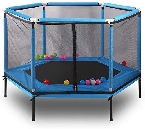 LERSS Jardín Cama elástica Interior for niños, trampolín al Aire Libre Juego de la Aptitud de los niños múltiples, Apto for Adultos o niños con Redes de Seguridad (Color : Azul)
