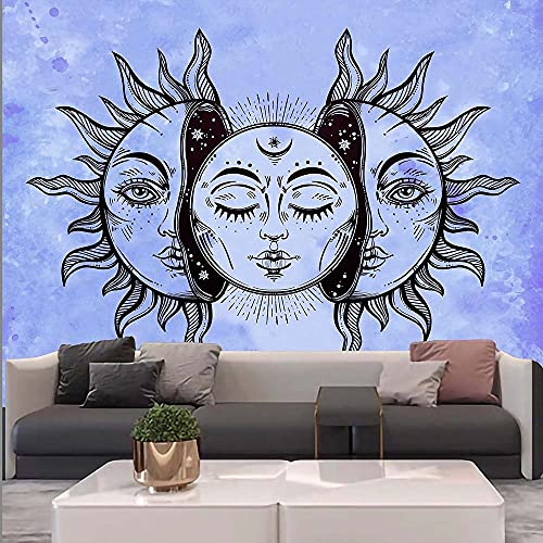 KHKJ Sun God Room Decor Tapestry MandalaWall Decor Tapestries Home Decor Boho Decor Witchcraft Tapestry A10 200x150cm