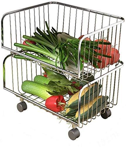 HCYY Estante de Almacenamiento de Frutas y Verduras Piso de Almacenamiento de Cocina Plástico de múltiples Capas Plato de Almacenamiento de Frutas y Verduras para el hogar Estante de Canasta de a
