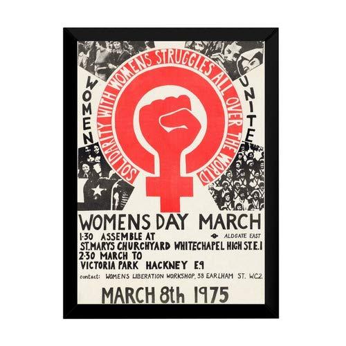 Quadro Marcha Das Mulheres 1975 Cartaz Moldurado Feminismo