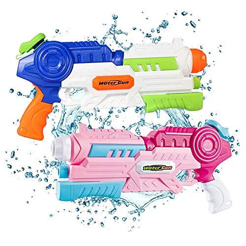 DYB Größte Wasserpistole für Jungen Mädchen, 2er Pack Wasserpistolen Wasserpistolen Pistolen für Kinder, für Wasserschlachtpool im Freien Beach Water Party 2 Pcs-1000 ML