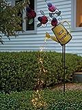 Watering Can Fairy Lights Solar LED Magical Garden, Sprinkles Your Garden with Fairy Light (Ladybug)
