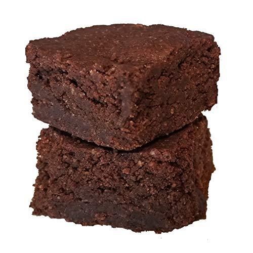Keto Dark Chocolate Brownie Baking Mix - Sugar Free Stevia Sweetened, 1/2g Net Carbs - Gluten Free, Non-GMO, Paleo Ketogenic Diabetic Friendly Low Carb Snack - 16 Servings
