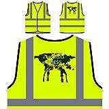Libertad de Prensa Mundial Novedad Divertida Chaqueta de Seguridad Amarillo Personalizado de Alta Visibilidad a771v