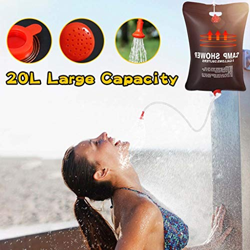Ducha 20L del bolso de agua plegable de energía solar climatizada al...