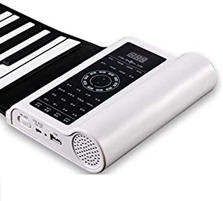 Piano Hand Roll Piano Professional Version Foldable Soft Keyboard 61 Key Portable Piano Thickened Beginner Keyboards (Colo...