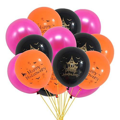 JKLKL Halloween Konfetti Druck Latex Ballon, Holiday Party Liefert Dekoration Kombination, Einkaufszentrum Fenster,StyleC