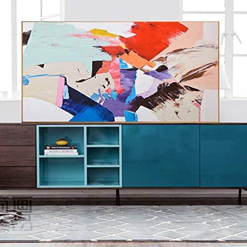 Geiqianjiumai canvas schilderij woonkamer slaapkamerdecoratie kunst abstracte kunst kleurrijk frameloze schilderij van het moderne hoofdschilderij
