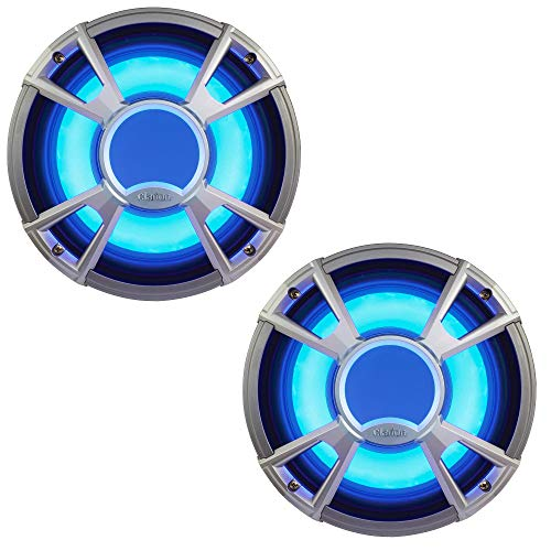 Clarion CMQ2512WL 10-Inch Marine Subwoofer with LED Grill 4 Ohm Case Pack of 2