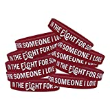 in The Fight for Someone I Love Multiple Myeloma Brain Aneurysm Wristband Bracelet 10-Pack (Burgundy)