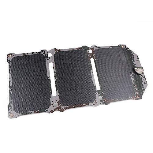 GNY Cargador Solar Newest 21W Panel Solar células solares Dual USB Cargador Solar Cargador de baterías Cargando por Sony para teléfono para iPad (Color : Snow Camouflage)