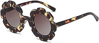 نظارات شمسية للأطفال، نظارات شمسية بتصميم ورود للبنات نظارات شمسية من الأشعة فوق البنفسجية 400 للأطفال نظارات شمسية دائرية...