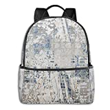 Texture Mountain Bicycle Laptop Backpack Fashion Theme School Backpack