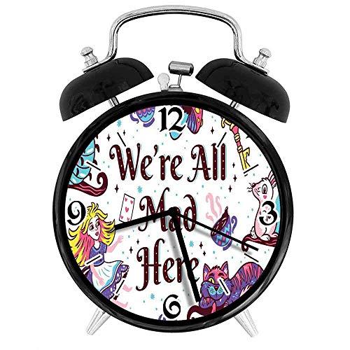 BeeTheOnly Squisita Sveglia Alice nel Paese delle Meraviglie Siamo Tutti matti Qui con Il Gatto del Cheshire Coniglio Caterpillar, Adatto per Lo Studio della Camera da Letto dell'ufficio