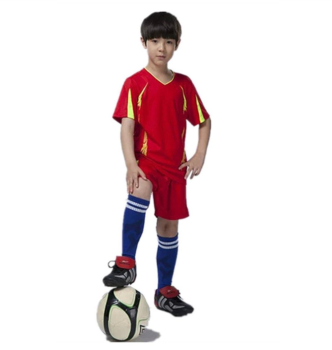 特許局ベリーQD-WST ジュニアサッカーウェア 子供トレーニング 上下セット サッカーソックス1足付き 収納バッグ付き 半袖シャツ ハーフパンツ