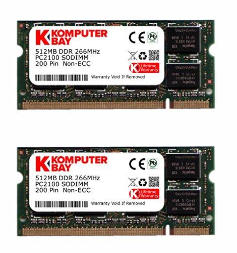 Komputerbay 1GB (512MBx2) de SODIMM DDR (200 broches) 266Mhz DDR266 PC2100 pour Compaq Presario R3030US 1 Go (512MBx2)