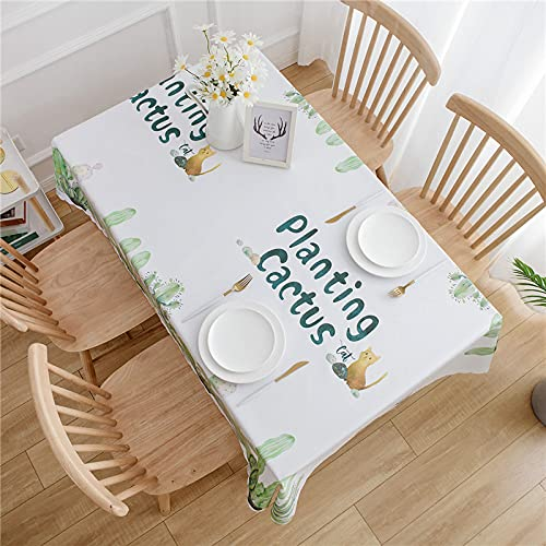 LIUJIU Mantel de vinilo resistente para mesa rectangular, para mesa de comedor, 120 x 160 cm