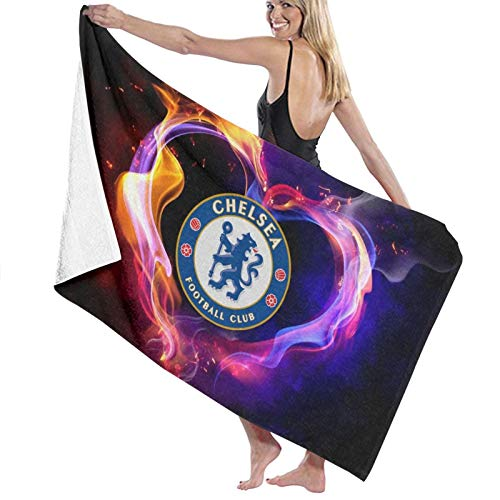 Custom made Chelsea Fc - Toalla de baño de microfibra (70 x 140 cm)