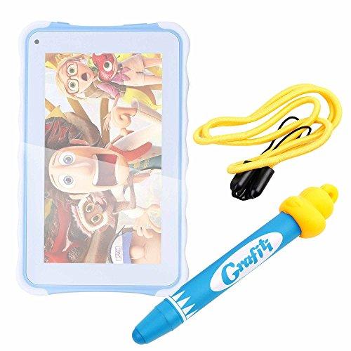DURAGADGET Divertido lápiz Stylus para niños, para Dibujar y Jugar con su Excelvan - 3G Tablet PC de 7' para niños Color Azul.