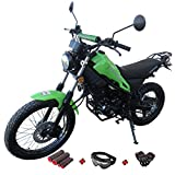 X-PRO 250cc Dirt Bike Pit Bike Adult Dirtbike 250cc Motorcycle Bike Street Bike with Gloves, Google and Handgrip (Green)