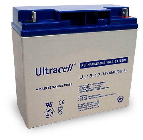 Wentronic Blei-Akku (Ultracell) 12 V, 18 Ah (M5 Gewinde)
