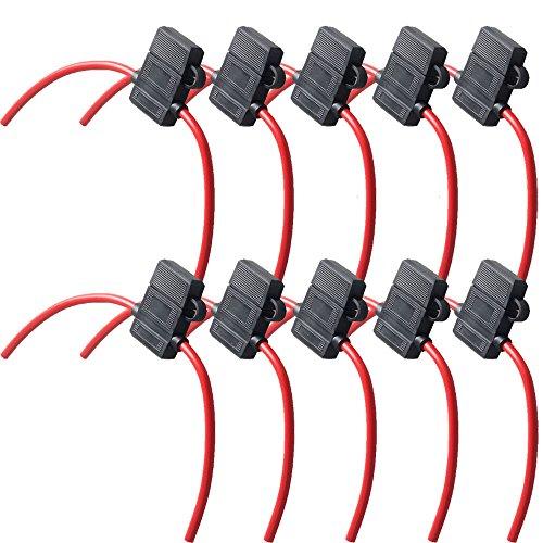 Mintice™ 10 X boîte de support ATC fusible de calibre 16 In-Line AWG cuivre fil 12V lame Prise standard