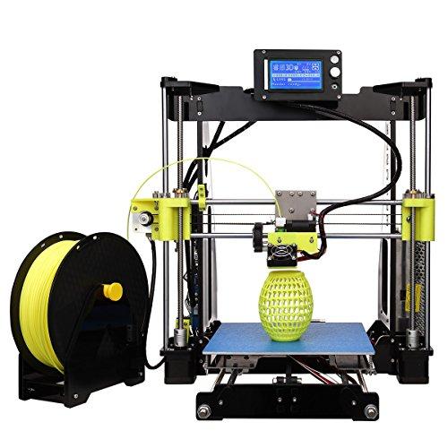 Stampante fai da te Kit tipo telaio in alluminio con stampa 3D, grandi dimensioni e stabilità di alta precisione riscaldato letto 12864 schermo display (R2, Nero)