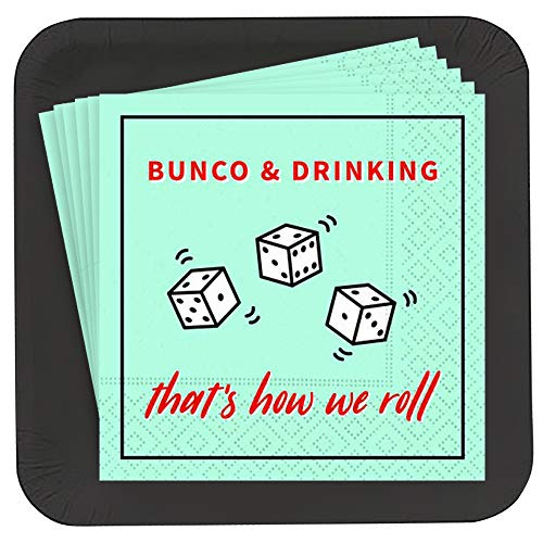 Bunco & Drinking Plate and Napkin Set (18)