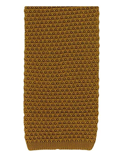 Goldene Seiden-Strickkrawatte von Michelsons