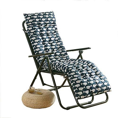 Yuly - Cojín acolchado para tumbonas de jardín, respaldo acolchado, para patio, interior antideslizante, para asiento de respaldo alto, colchón reclinable de 120 x 48 x 6 cm