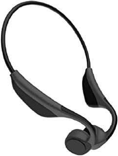 Bone Conduction Headphone Bluetooth Open Ear Wireless Sports Headset 6 Hours Playtime Sweatproof &Rainwater Proof Lightweight Earphones for Jogging Running Driving Cycling, Hearing Protection (Black)