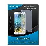 SWIDO Bildschirmschutz für Samsung Galaxy E7 [4 Stück] Kristall-Klar, Hoher Festigkeitgrad, Schutz vor Öl, Staub & Kratzer/Schutzfolie, Bildschirmschutzfolie, Panzerglas Folie