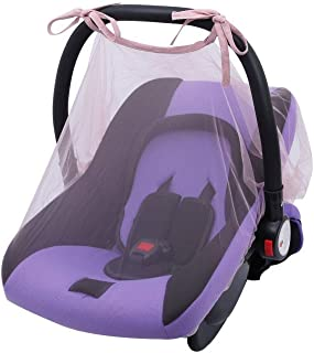 Baby Mosquito Net for Stroller, Car Seat & Bassinet – Premium Infant Bug Protection for Jogger (Pink)