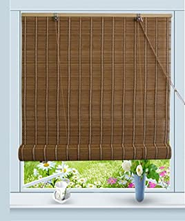 Bamboo Roll Up Window Blind Sun Shade W32