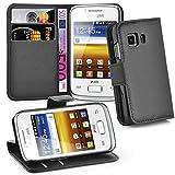 Cadorabo Funda Libro para Samsung Galaxy Young 2 en Negro Fantasma - Cubierta Proteccíon con Cierre Magnético, Tarjetero y Función de Suporte - Etui Case Cover Carcasa